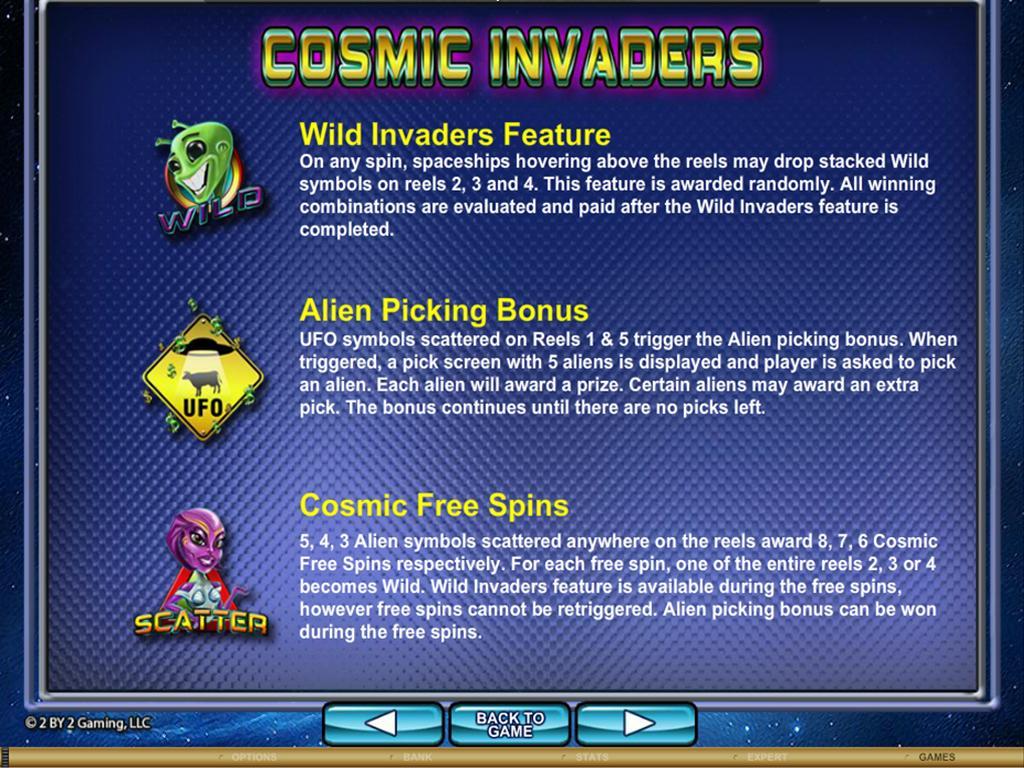 CosmicInvaders spec feat